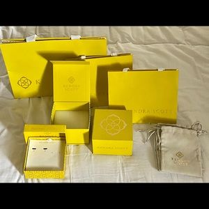 Assorted Kendra Scott gift bags
